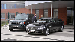 The Duchess of Cambridge Jaguar police car replaced the BMW during her visit to Grimsby, Lincolnshire, Tuesday March 5, 2013. Photo By Andrew Parsons / i-Images