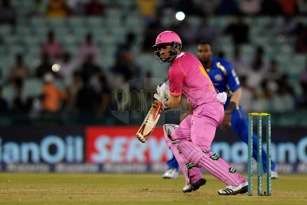 Daniel Flynn Captain of Northern Knights bats during the qualifier 5 match of the Oppo Champions League Twenty20 between the Southern Express and the Lahore Lions held at the Chhattisgarh International Cricket Stadium, Raipur, India on the 16th September 2014<br /> <br /> Photo by:  Pal Pillai / Sportzpics/ CLT20<br /> <br /> <br /> Image use is subject to the terms and conditions as laid out by the BCCI/ CLT20.  The terms and conditions can be downloaded here:<br /> <br /> http://sportzpics.photoshelter.com/gallery/CLT20-Image-Terms-and-Conditions-2014/G0000IfNJn535VPU/C0000QhhKadWcjYs