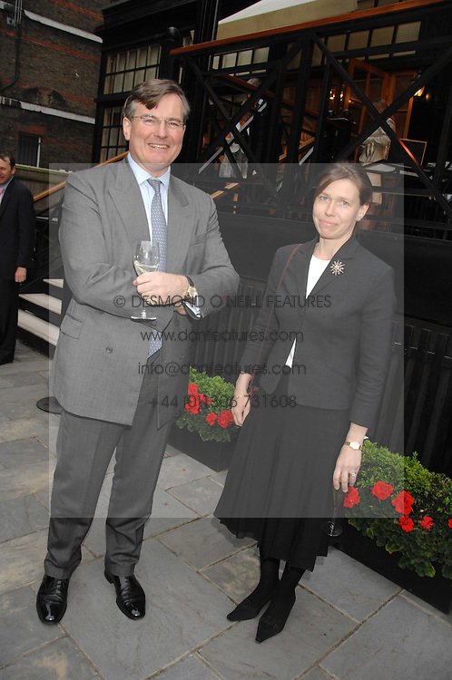 CAPT.ASHE WINDHAM Chairman of the Friends of The Castle of Mey and LADY SARAH CHATTO at a reception for the Friends of The Castle of Mey held at The Goring Hotel, London on 20th May 2008.<br /><br />NON EXCLUSIVE - WORLD RIGHTS