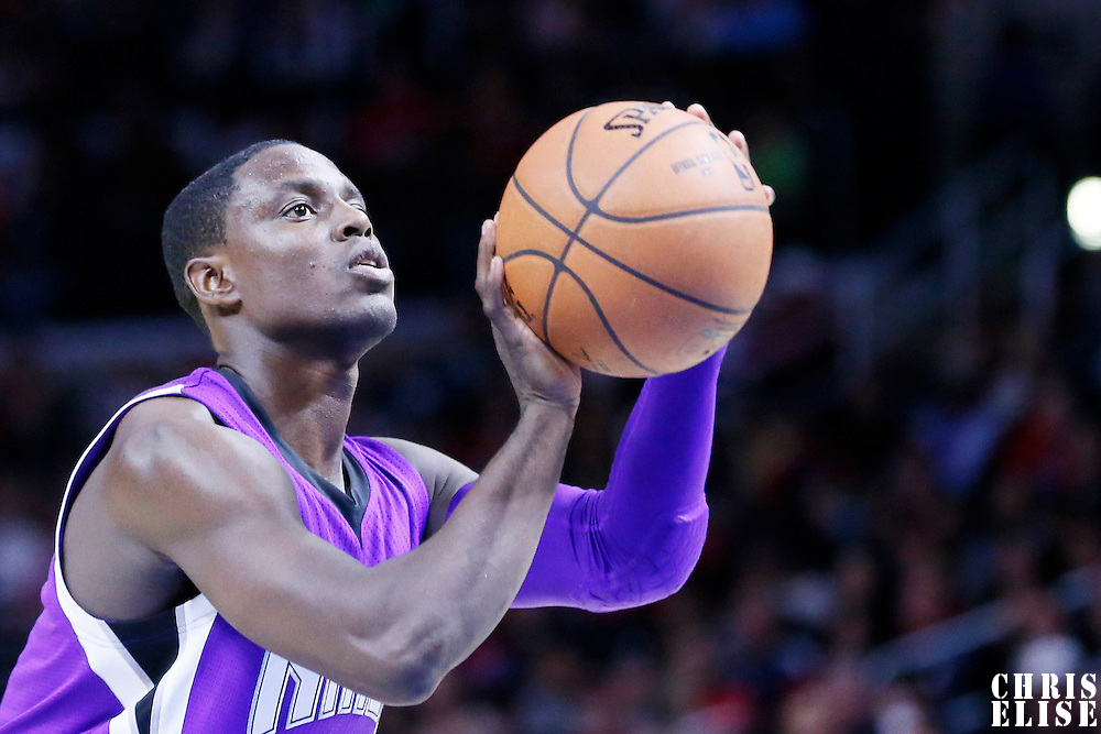 02 November 2014: Sacramento Kings guard Darren Collison (7) is seen at the free throw line during the Sacramento Kings 98-92 victory over the Los Angeles Clippers, at the Staples Center, Los Angeles, California, USA.