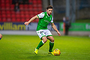 Lewis Stevenson (#16) of Hibernian FC during the Ladbrokes Scottish Premiership match between St Johnstone FC and Hibernian FC at McDiarmid Park, Perth, Scotland on 9 November 2019.
