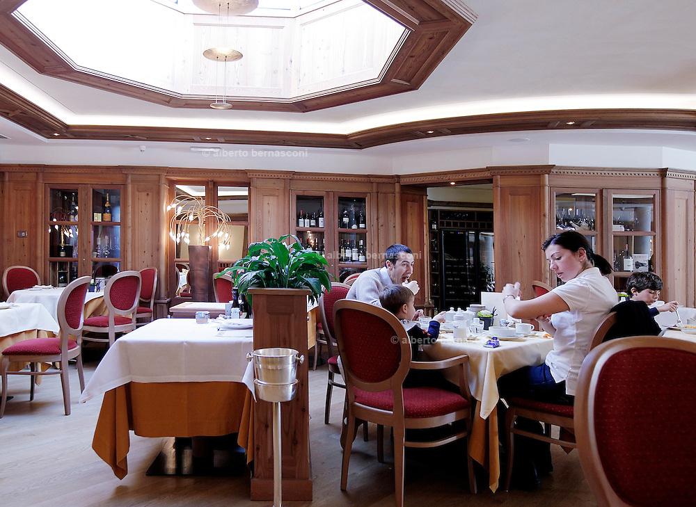 Italy, Madonna di Campiglio,italian breakfast at the  Alpen Suite Hotel