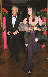 MR & MRS VIDAL SASSOON, he is the leading hairdresser, at a party in London on 22nd February 1999.MON 115