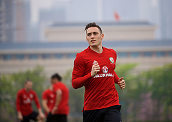 NANNING, CHINA - Saturday, March 24, 2018: Wales' Connor Roberts during a training session at the Guangxi Sports Centre ahead of the 2018 Gree China Cup International Football Championship final match against Uruguay. (Pic by David Rawcliffe/Propaganda)