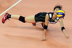Japan Saori Kimura digs a ball