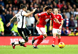 Hildeberto Pereira of Nottingham Forest goes past Bradley Johnson of Derby County - Mandatory by-line: Robbie Stephenson/JMP - 11/12/2016 - FOOTBALL - iPro Stadium - Derby, England - Derby County v Nottingham Forest - Sky Bet Championship