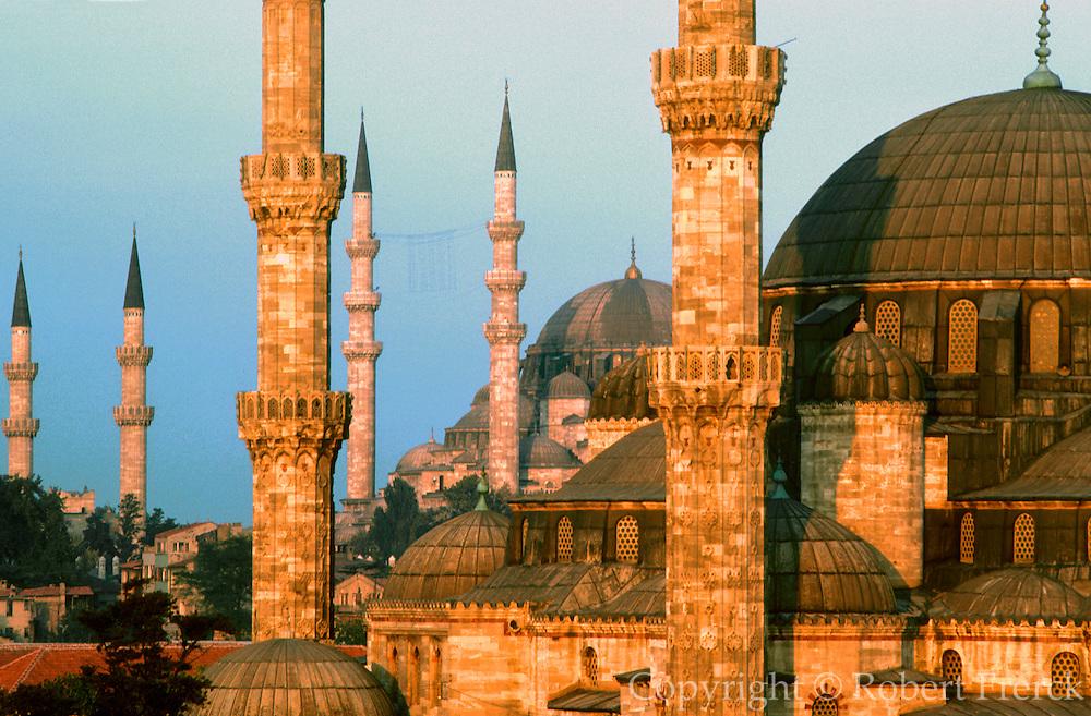 TURKEY, ISTANBUL, OTTOMAN skyline of Istanbul with minarets