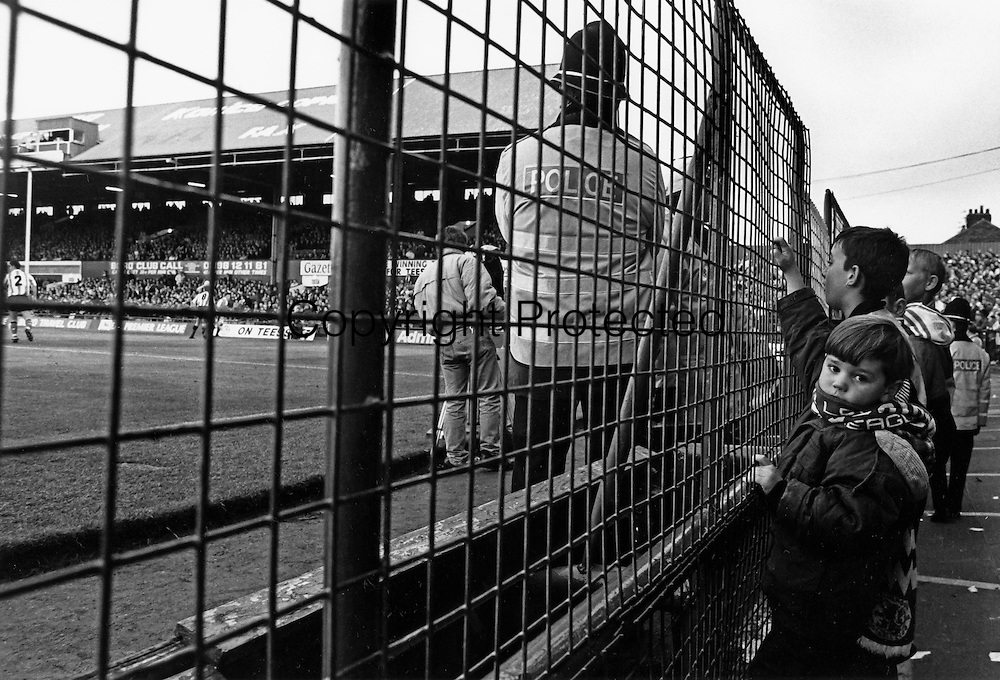 Boy on the Holgate End Fence, Boro 1 Sheffield Wednesday 1, 24th October 1992.