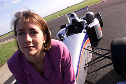 Lisa Davis, works for ex-Formula 1 driver Jonathan Palmer at his company Palmer Sports in Bedfordshire, October 4, 2000..Photo by Andrew Parsons/i-Images.