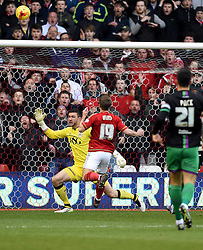 Jamie Ward of Nottingham Forest fires over  - Mandatory byline: Joe Meredith/JMP - 27/02/2016 - FOOTBALL - The City Ground - Nottingham, England - Nottingham Forest v Bristol City - Sky Bet Championship
