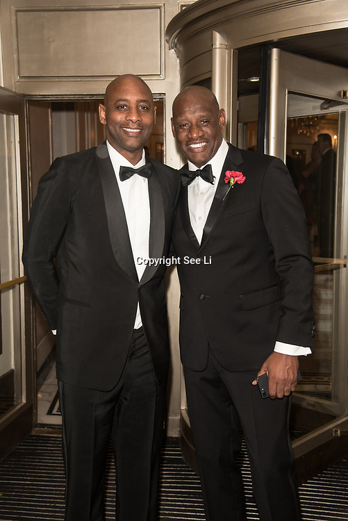 Shane Wallace (R) attend the Rainbows Celebrity Charity Ball at Dorchester Hotel on June 1, 2018 in London, England.