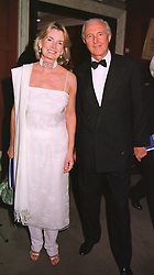 MR & MRS GALEN WESTON he is the multi millionare, at a dinner in London on 19th May 1999.MSF 74