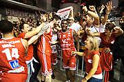 Ancellotti Andrea Omogbo Manuel Moore Dallas<br /> Grissin Bon Pallacanestro Reggio Emilia - VL Pesaro<br /> Lega Basket Serie A 2017/2018<br /> Reggio Emilia, 08/10/2017<br /> Foto A.Giberti / Ciamillo - Castoria
