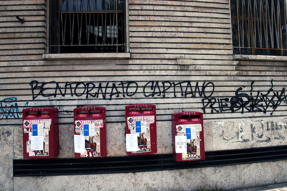 Rome  15 June 2007..Written on the walls of Bologna Plaza for SS Captain Erich Priebke