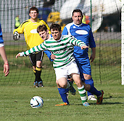 Lochee Celtic (green and white hoops) v Stobswell (blue) - Dundee Saturday Morning Football League<br /> <br />  - &copy; David Young - www.davidyoungphoto.co.uk - email: davidyoungphoto@gmail.com
