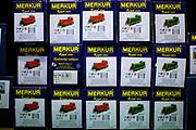 Das Lager von Merkur Produkten in der Merkur Fabrik in Police nad Metuji.