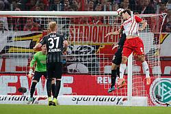 02.11.2014, RheinEnergieStadion, Köln, GER, 1. FBL, 1. FC Köln vs SC Freiburg, 10. Runde, im Bild Yuya Osako (1. FC Koeln #13) mit einer Kopfball-Torchance // during the German Bundesliga 10th round match between 1. FC Cologne and SC Freiburg at the RheinEnergieStadion in Köln, Germany on 2014/11/02. EXPA Pictures © 2014, PhotoCredit: EXPA/ Eibner-Pressefoto/ Schueler<br /> <br /> *****ATTENTION - OUT of GER*****