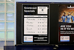 Match betting odds are displayed inside the stadium before kick off - Mandatory by-line: Matt McNulty/JMP - 06/12/2016 - FOOTBALL - Etihad Stadium - Manchester, England - Manchester City v Celtic - UEFA Champions League Group C