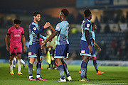 Wycombe Wanderers Players Celebrate at the final whistle during the EFL Sky Bet League 2 match between Wycombe Wanderers and Hartlepool United at Adams Park, High Wycombe, England on 26 November 2016. Photo by Adam Rivers.