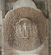 Carving artwork detail - Jain Temple Ranakpur on the road to Jodhpur - India 2011