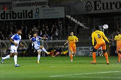Matt Taylor of Bristol Rovers scores the opening goal - Mandatory byline: Dougie Allward/JMP - 07966 386802 - 06/10/2015 - FOOTBALL - Memorial Stadium - Bristol, England - Bristol Rovers v Wycombe Wanderers - JPT Trophy