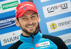 Jakov Fak at press conference of Team Slovenia during training day prior to the IBU Biathlon World cup at Pokljuka, on December 16, 2014 in Rudno polje, Pokljuka, Slovenia. Photo by Vid Ponikvar / Sportida