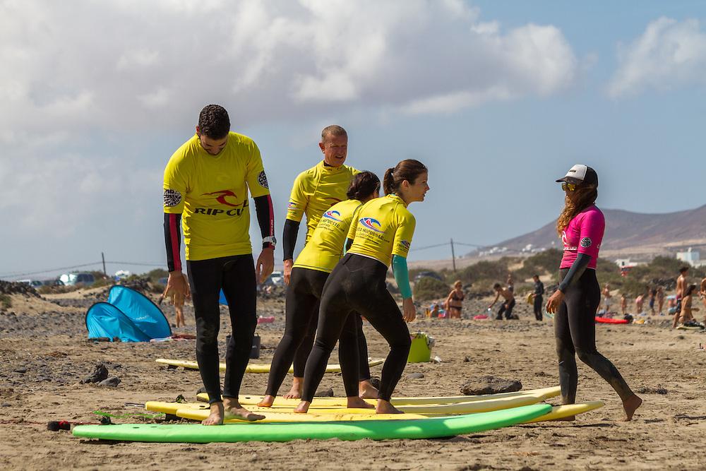 Famara Beach, surf lesson, October 8, 2016