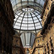 Glass dome of Galleria Vittorio Emanuele, Milan, Italy