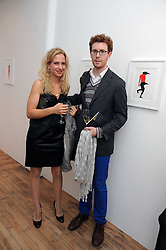 ELOISE SCRYMGEOUR and NICHOLAS CULLINAN at the inaugural exhibition at the Yvon Lambert London Gallery featuring work ny Mexican born artist Carlos Amorales, 20 Hoxton Square, London N1 on 16th October 2008.