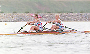 1988 Seoul. Korea GBR W2X . Bow. Alison [Ali] GILL and Sally  ANDREAE. 1988 Summer Olympic Games [Mandatory Credit - Guy Hebblewhite/Intersport Images] 1988 Seoul Olympic Games. South Korea