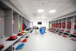 General View inside the Bristol City away dressing room - Rogan/JMP - 09/01/2018 - Etihad Stadium - Manchester, England - Manchester City v Bristol City - Carabao Cup Semi Final First Leg.