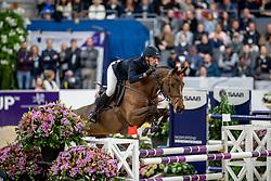 VON ECKERMANN Henrik (SWE), Toveks Mary Lou<br /> Göteborg - Gothenburg Horse Show 2019 <br /> Longines FEI World Cup™ Final I<br /> Int. jumping competition - speed and handiness<br /> Longines FEI Jumping World Cup™ Final and FEI Dressage World Cup™ Final<br /> 04. April 2019<br /> © www.sportfotos-lafrentz.de/Stefan Lafrentz