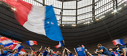 10.06.2016, Stade de France, St. Denis, FRA, UEFA Euro, Frankreich, Frankreich vs Rumaenien, Gruppe A, im Bild Frankreich Fanblock mit Fahnen // Supporters of France with Flags during Group A match between France and Romania of the UEFA EURO 2016 France at the Stade de France in St. Denis, France on 2016/06/10. EXPA Pictures © 2016, PhotoCredit: EXPA/ JFK