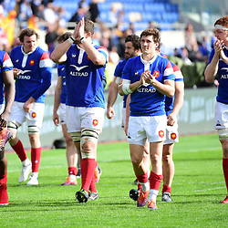 France on their lap of honour following the Guinness Six Nations match between Italy and France on March 16, 2019 in Rome, Italy. (Photo by Dave Winter/Icon Sport)
