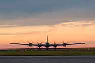 """FIFI,"" the only operaring  Boeing B-29A-60-BN Superfortress in the world, taxis at the New Orleans Lakefront Airport for the Airpower Expo Airshow on October 23, 2014."