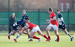 Nick Freeman (Clifton College) of Bristol Rugby Academy U18 is tackled - Mandatory by-line: Paul Knight/JMP - 21/01/2017 - RUGBY - SGS Wise Campus - Bristol, England - Bristol Academy U18 v Saracens Academy U18 - Premiership Rugby Academy U18 League