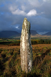 July 21, 2019 - Blackwater, County Kerry, Ireland, Standing Stone Near Kenmare (Credit Image: © Peter Zoeller/Design Pics via ZUMA Wire)