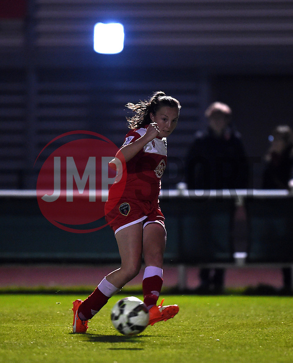 Caroline Weir of Bristol Academy Women assists - Mandatory by-line: Paul Knight/JMP - Mobile: 07966 386802 - 04/10/2015 -  FOOTBALL - Stoke Gifford Stadium - Bristol, England -  Bristol Academy Women v Liverpool Ladies FC - FA Women's Super League