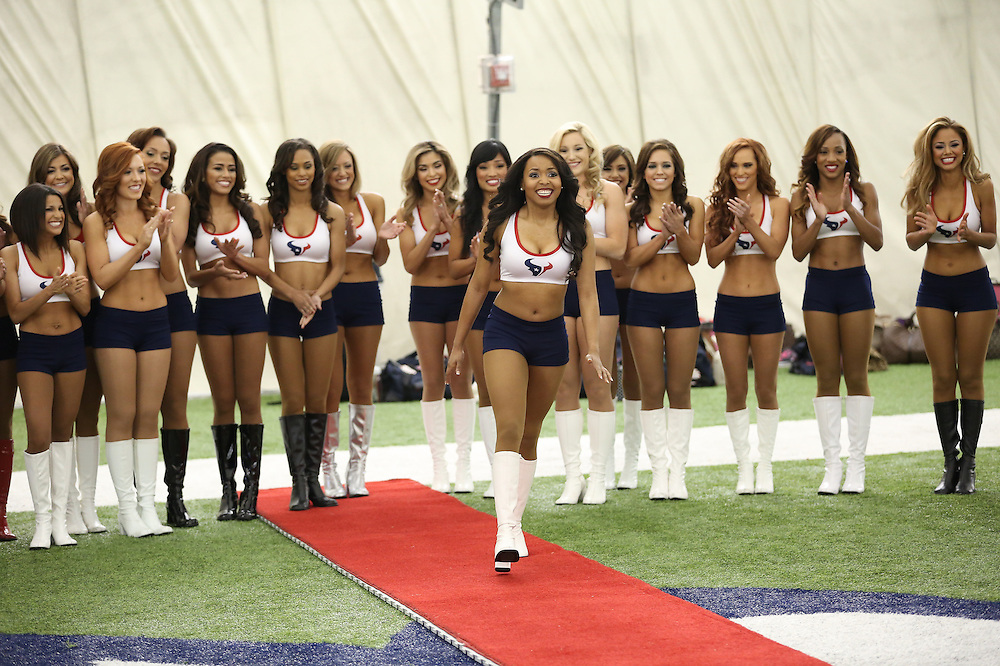 4/16/2014: One of the 35 girls names is called. Fifty girls showed up on April 16, 2014 at the Houston Texans practice facility in Houston, Texas to see which 35 girls made the 2014-2015, Houston Texans Cheerleading Team.
