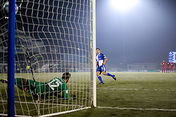 Tony Craig of Bristol Rovers scores his penalty in the shoot out against Leyton Orient - Mandatory by-line: Robbie Stephenson/JMP - 04/12/2019 - FOOTBALL - Memorial Stadium - Bristol, England - Bristol Rovers v Leyton Orient - Leasing.com Trophy