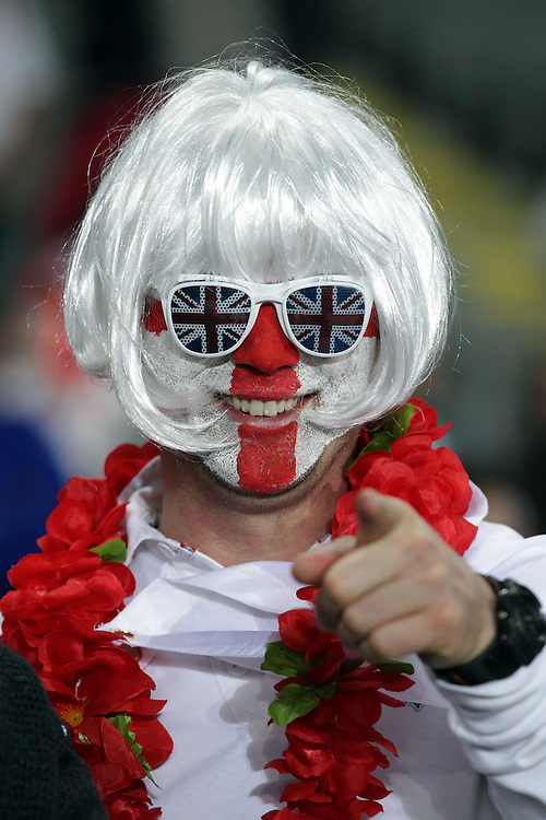 A supporter awaits the England versus France quarter-final 2 match of the Rugby World Cup 2011, Eden Park, Auckland, New Zealand, Saturday, October 08, 2011.  Credit:SNPA / David Rowland