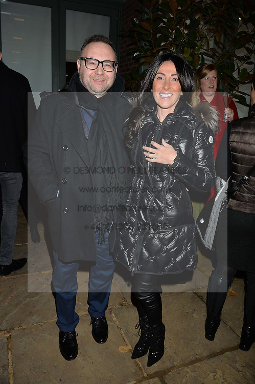 The Ivy Chelsea Garden's Guy Fawkes Party & Launch of The Winter Garden was held on 5th November 2016.<br /> Picture shows:-JONATHAN & KATRINA SHALIT.