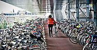 Bike parking lot, outside of Amsterdam Centraal Station.