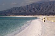 Djibouti. Lake Assal. The beach.