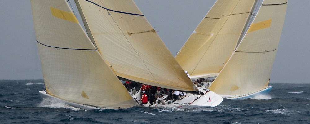 12 Meter Class KZ3 and Kookaburra racing at Regates Royales