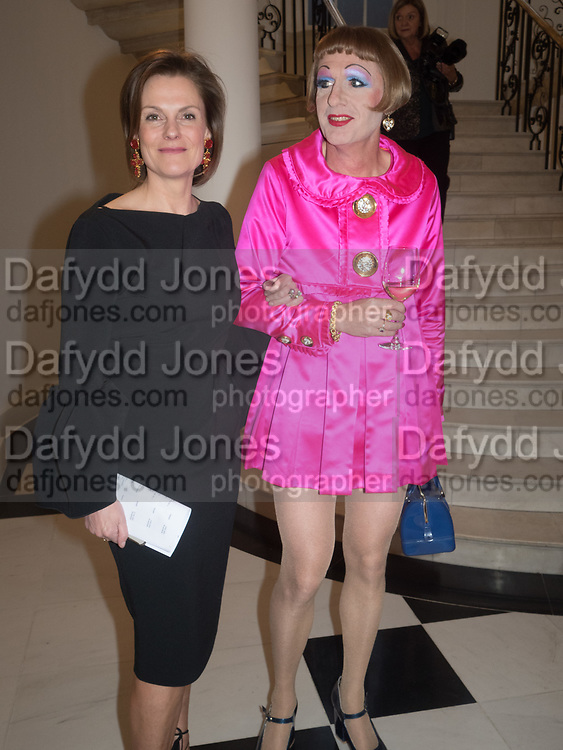 GRAYSON PERRY; POLLY ROBINSON-GAER, Opening of Galerie Thaddaeus Ropac London, Ely House, 37 Dover Street.. Mayfair. London. 26 April 2017.