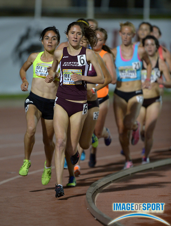 Apr 18, 2014; Walnut, CA, USA; Ann Eason of Eastern Kentucky places fourth in the Olympic development elite womens 5,000m in 16:06.20 in the 56th Mt. San Antonio College Relays at Hilmer Lodge Stadium.