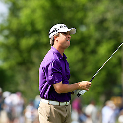 2009 April 26: David Toms of Shreveport, LA tee's off from the 17th hole during the final round of the Zurich Classic of New Orleans PGA Tour golf tournament played at TPC Louisiana in Avondale, Louisiana.