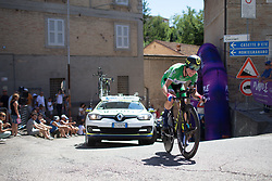 Annemiek van Vleuten (NED) of Orica Scott Cycling Team on her way to win Stage 5 of the Giro Rosa - a 12.7 km individual time trial, starting and finishing in Sant'Elpido A Mare on July 4, 2017, in Fermo, Italy. (Photo by Balint Hamvas/Velofocus.com)