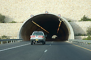 Israel, a tunnel on Highway 6 a new toll highway running from north to south